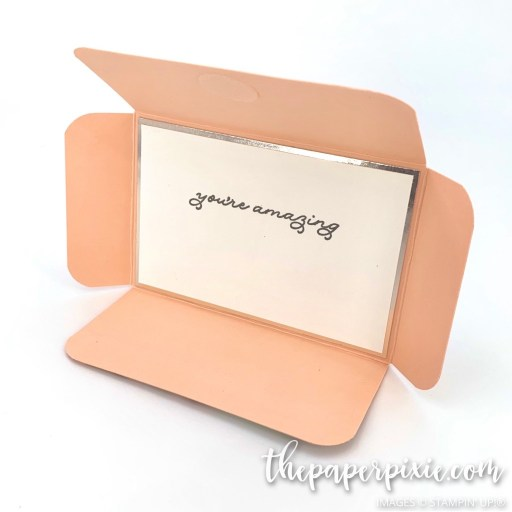 This is a handmade gift card envelope craft project created by the Paper Pixie using Stampin' Up! supplies.