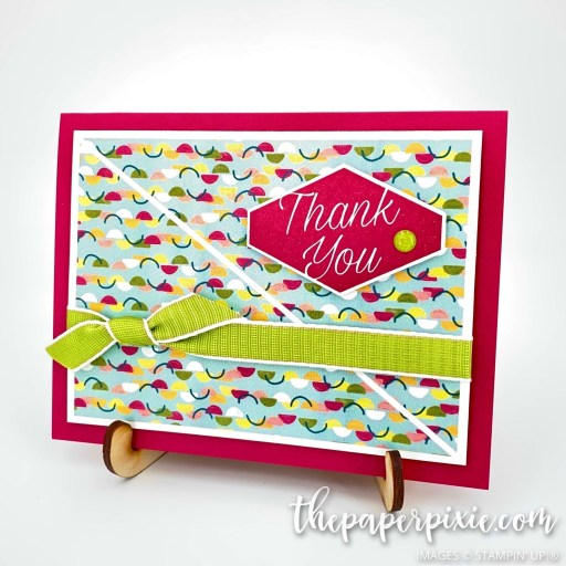 This is a handmade card stamped with the Accented Blooms Stampin' Up! stamp set and the sentiment says thank you.
