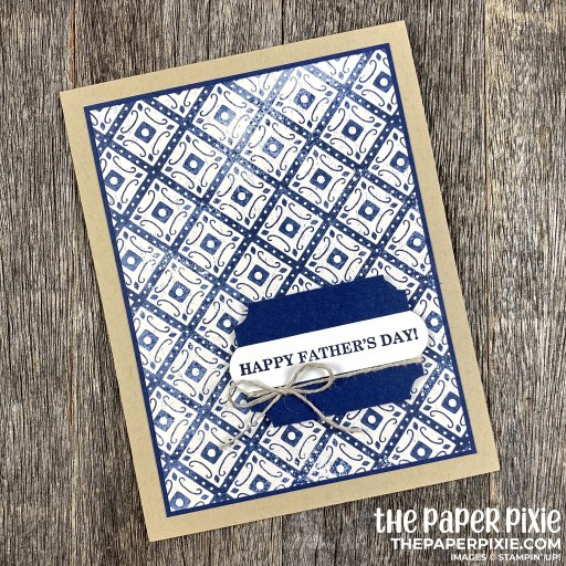 This is a handmade card stamped with the Best Year Stampin' Up! stamp set and the sentiment says Happy Father's Day!