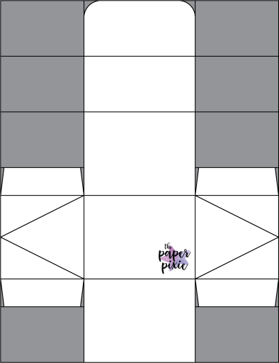 This is a template created by the Paper Pixie to go along with the video tutorial to assist you in making the Tapered Treat Box.