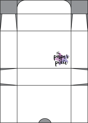 This is a template was created by the Paper Pixie to go along with the video tutorial to assist you in making this treat box.
