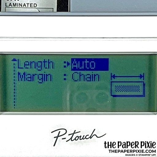 This is the label settings I used for my Stampin' Up! Stampin' Blends organization.