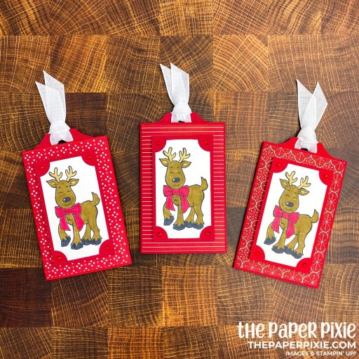 This is a handmade slider gift card holder craft project created by the Paper Pixie using Stampin' Up! supplies.