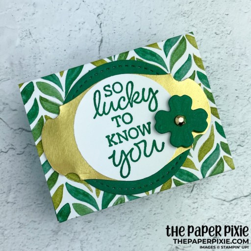 This is a handmade Andes Mints Shadow Box craft project created by the Paper Pixie using Stampin' Up! supplies.