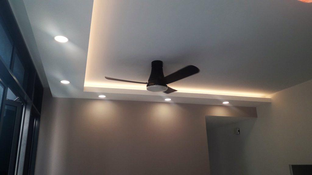 L-shaped Covelight false Ceiling