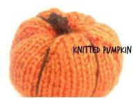 Knitted pumpkin by craftbits (shellie wilson) - she has a crocheted version here too.