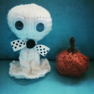 knitting boo the ghost