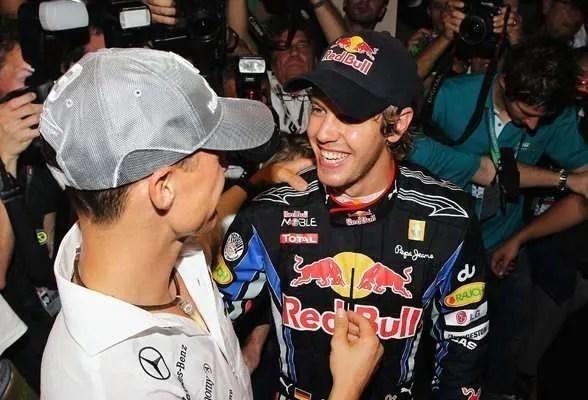 Schumacher and Vettel
