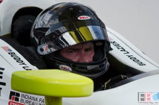 Buddy Lazier in his No. 4 Chevrolet-powered Dallara waiting his turn to qualify for the 2016 Indianapolis 500 Mile Race. -- Photo by Doug Patterson
