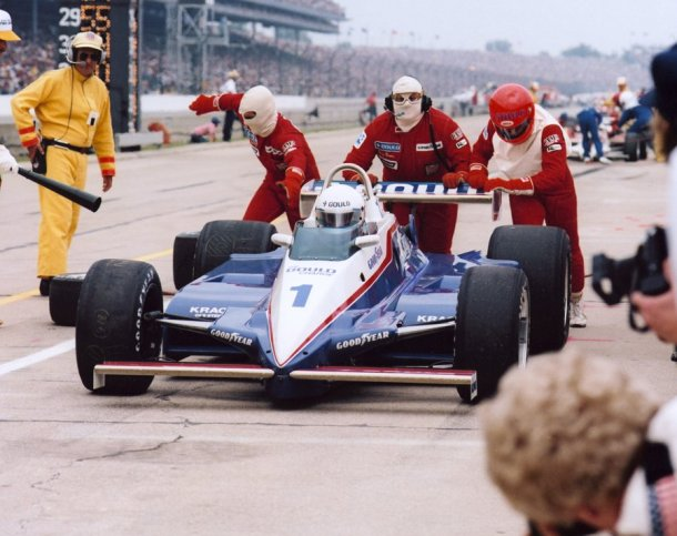 Rick Mears, #1, The Gould Charge, Penske, Cosworth -- Photo courtesy of IMS Photo