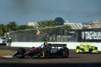 Robert Wickens sails into Turn 13 during the final warmup for the Firestone Grand Prix of St. Petersburg -- Photo by: Chris Owens