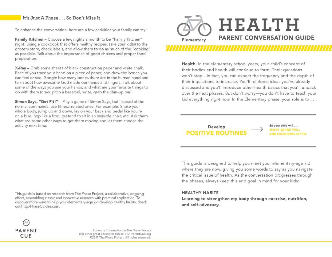 Health Conversation Guides - Parent Cue