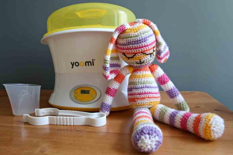Yoomi Sterilizer and pink bunny teddy