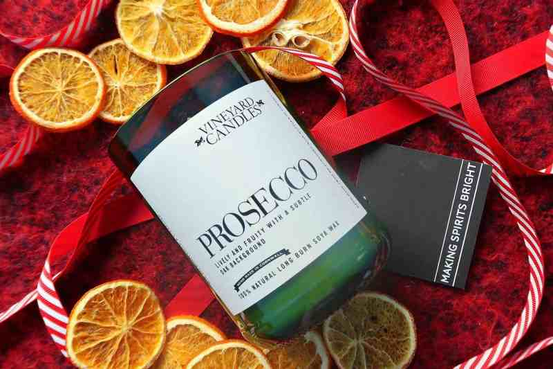 Prosecco candle gift Prezzybox