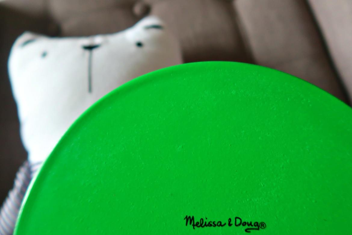 Green Melissa and doug toy plate for activities to do with a toddler post