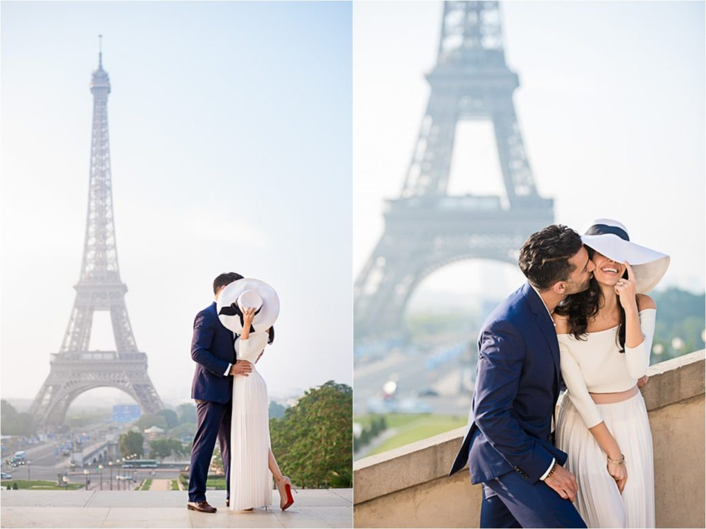 Stunning engagement photos at the Eiffel Tower