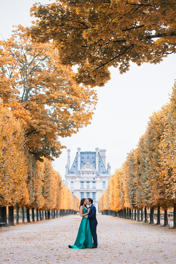 Fall Paris Engagement