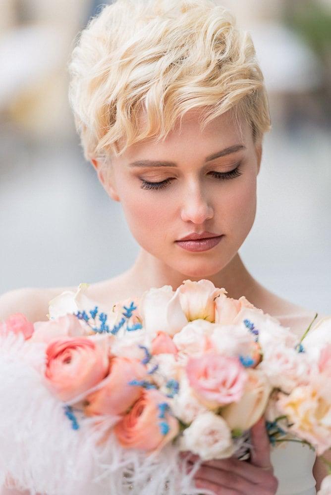 wedding photography paris - beautiful bridal portrait in Paris