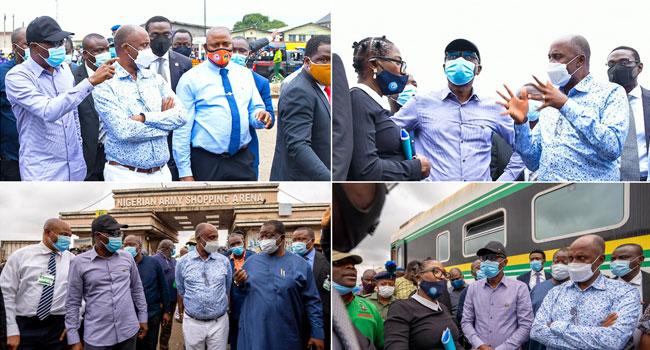 Sanwo-Olu, Amaechi Inspect Site of Train Accident