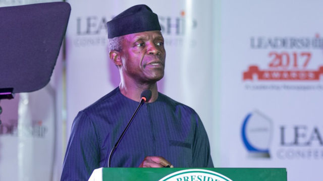 COVID-19 :Osinbajo Wants Russia to make Vaccine Affordable