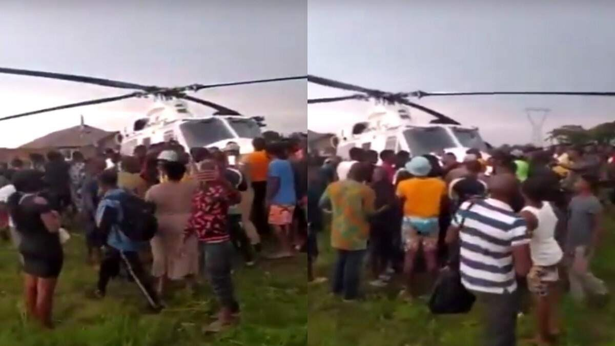 Edo Residents Sieze Police  Helicopter