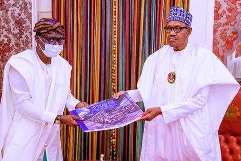 EndSARS Protest : Sanwo-Olu Presents Situation Report to Buhari