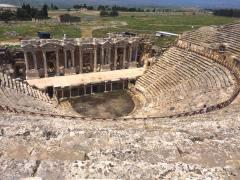 The amphitheatre at Hierapolis.