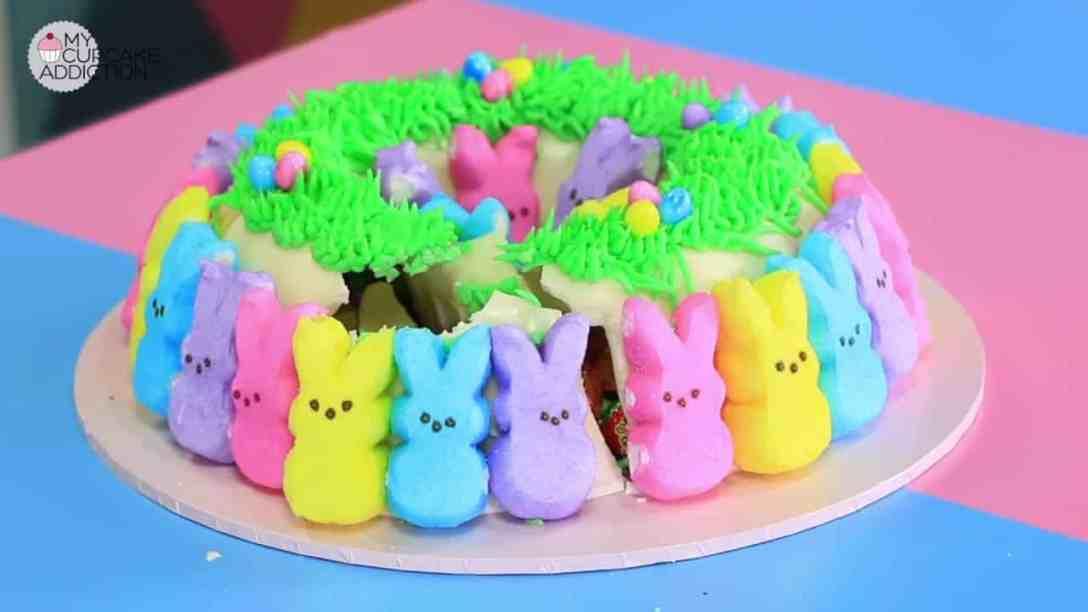 Easy Easter Cake Recipe  No Bake PEEPS Smash...