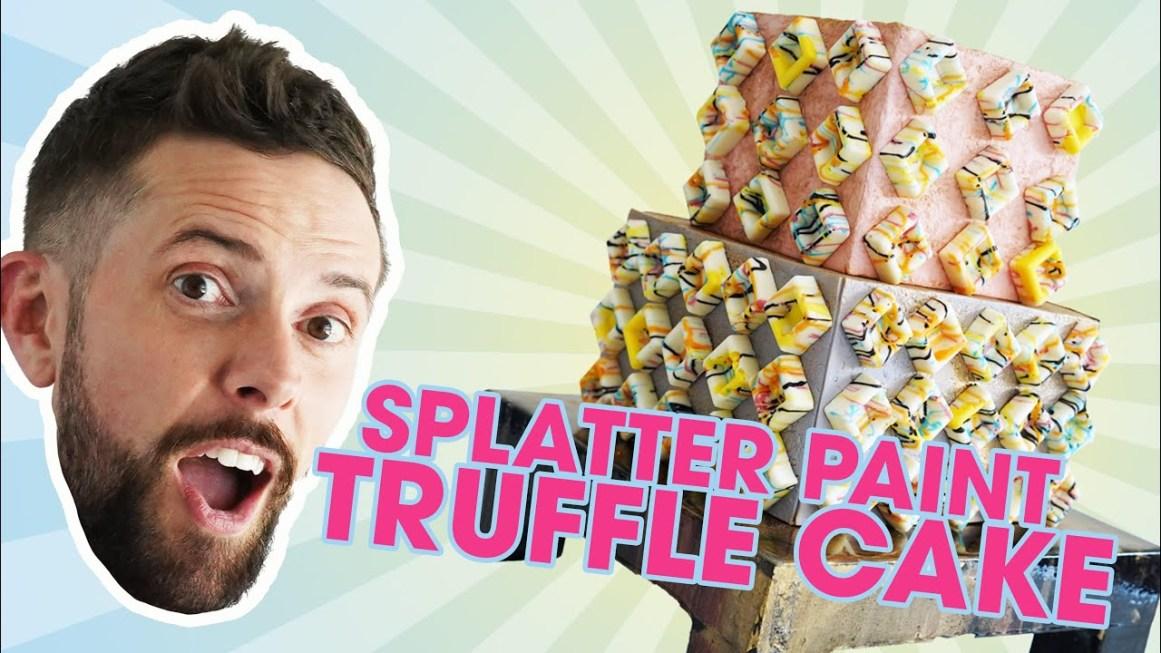 Splatter Paint Truffle Cake