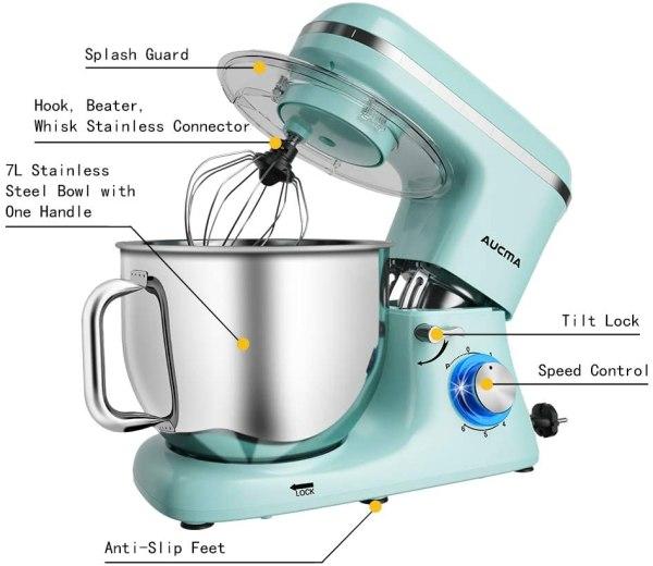 Aucma Stand Mixer 7L - Blue