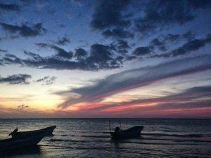 isla holbox sunset