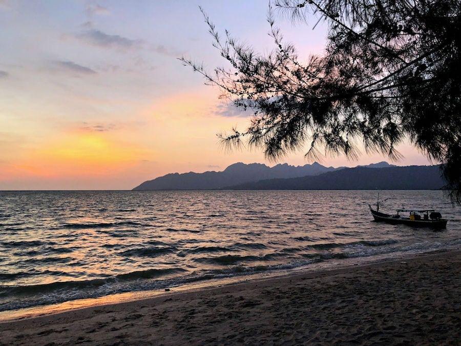 langkawi beach sunset