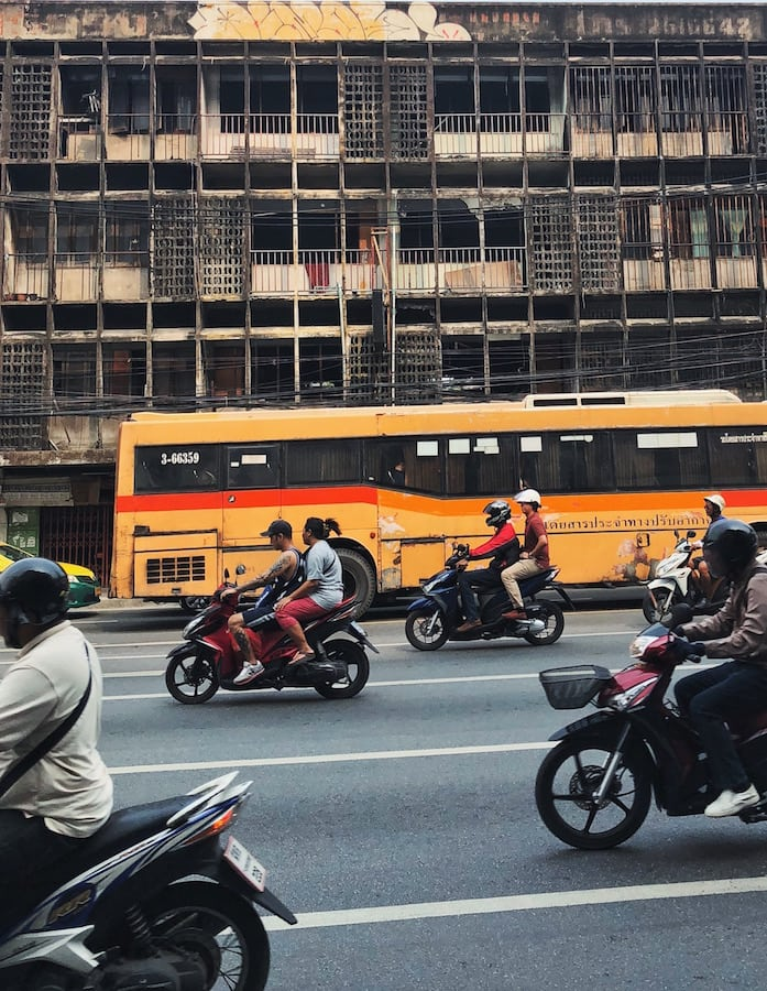 bangkok motorcycle traffic