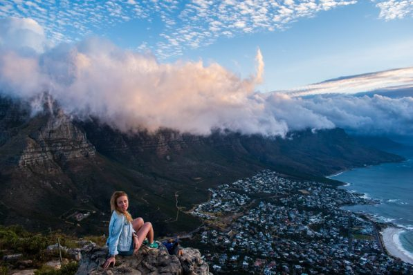 lions head sunset cape town views