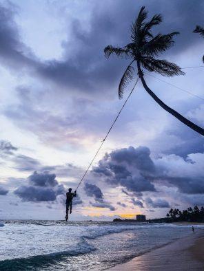 sri lanka dalawella beach swing