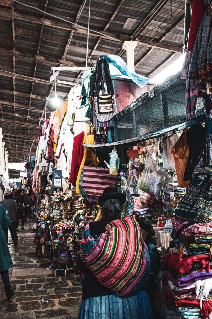 visiting mercado san pedro cusco