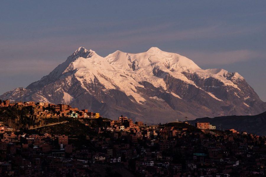 la paz bolivia illimani sunset