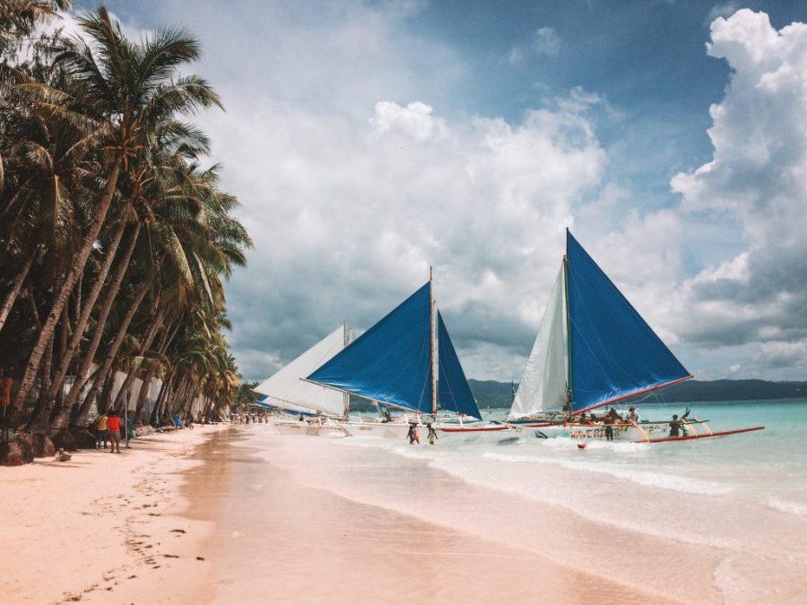 boracay philippines sailboats