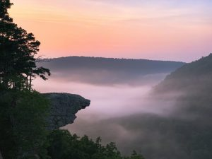 whitaker point hawksbill crag sunrise