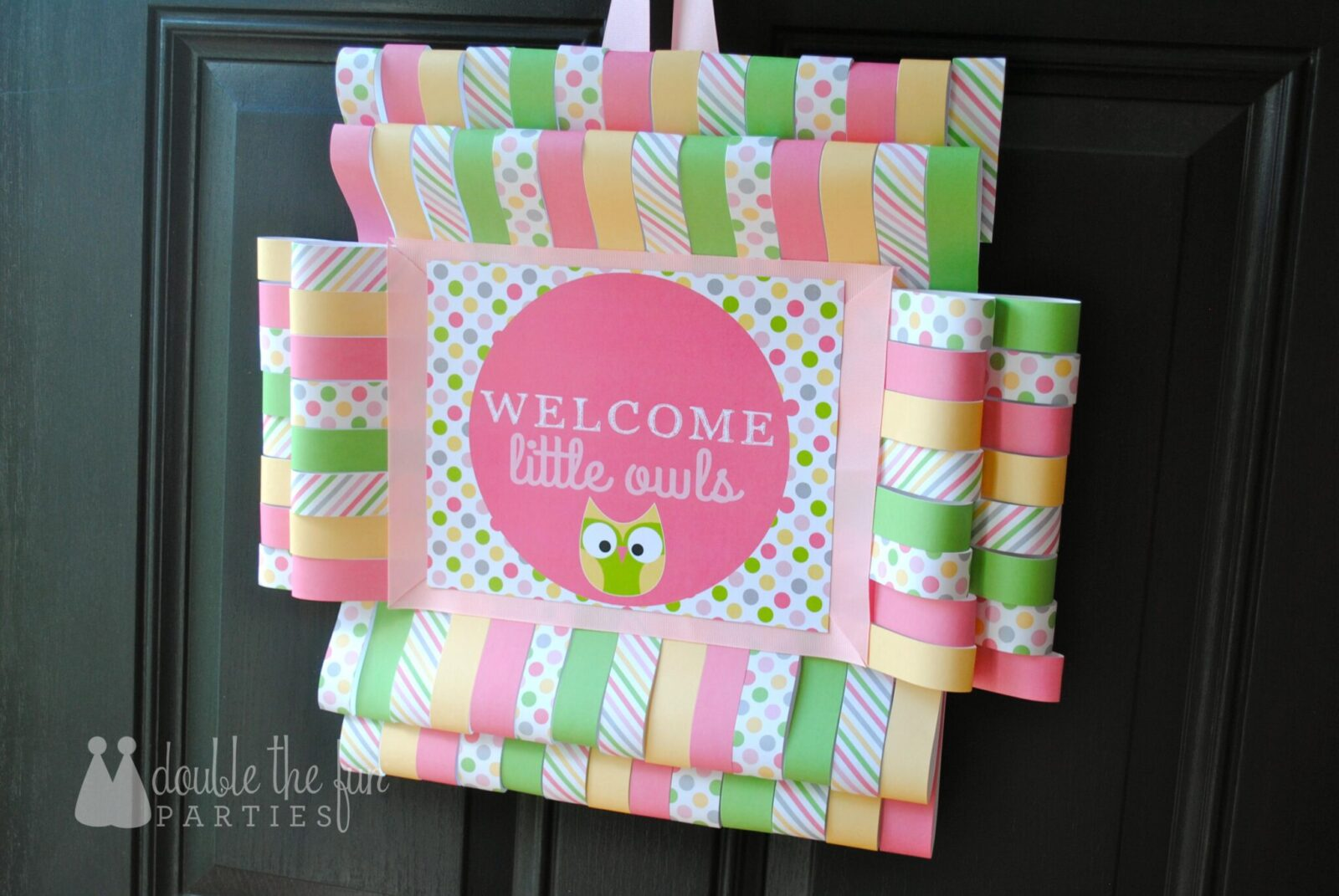 Tutorial Night Owl Party Door Sign Use All Those Printables