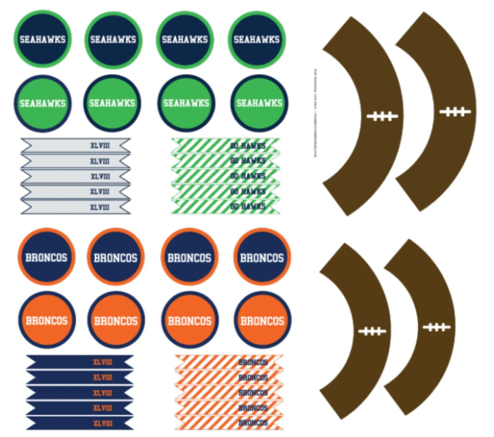 Freebie Friday Free Superbowl Xlviii Party Printables