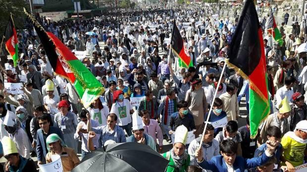 Kabul-demonstration-kicks-off