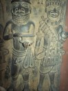 Carvings from the sacked city of Benin, Nigeria