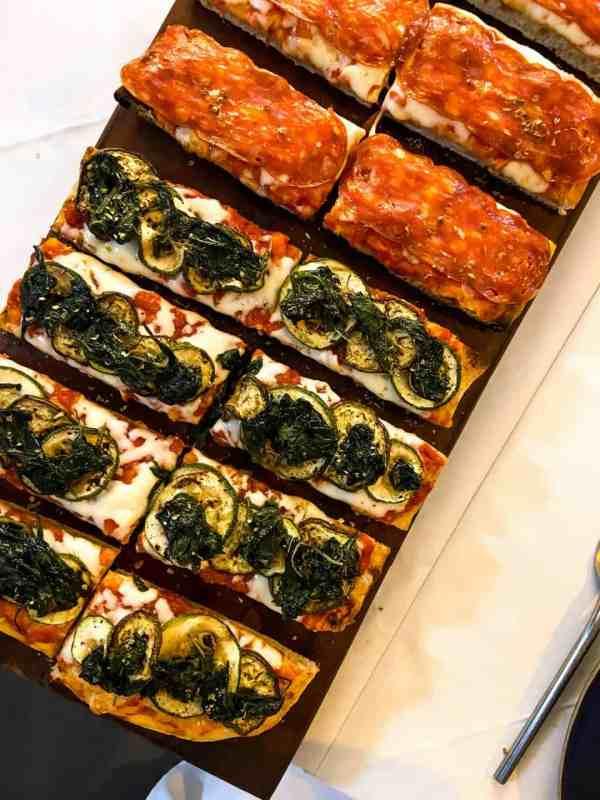 Vegetariana and Spicy Salami Pizza at Il Vicolo