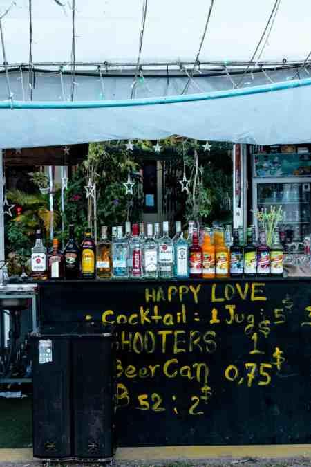 Bar at Old Market in Kampot, Cambodia