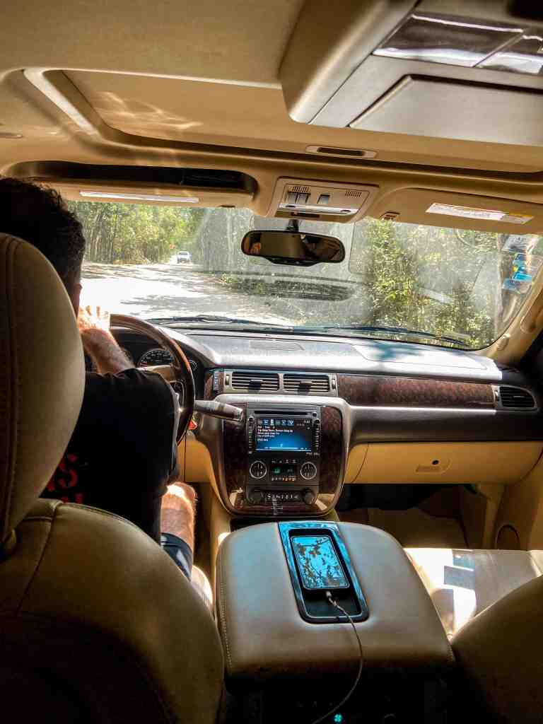 Tour Guide, Arturo, Driving to Cenote Sac Actun