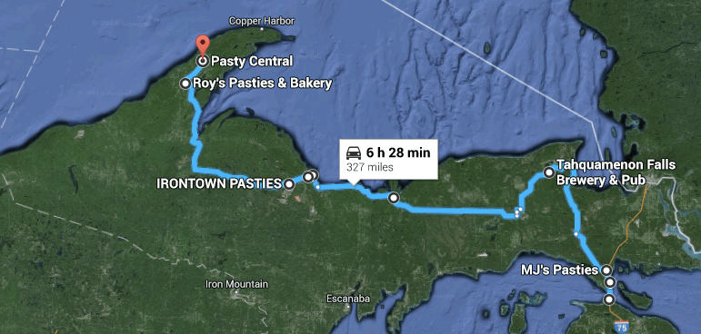 pasty trail, pasty guy, upper peninsula, pasties