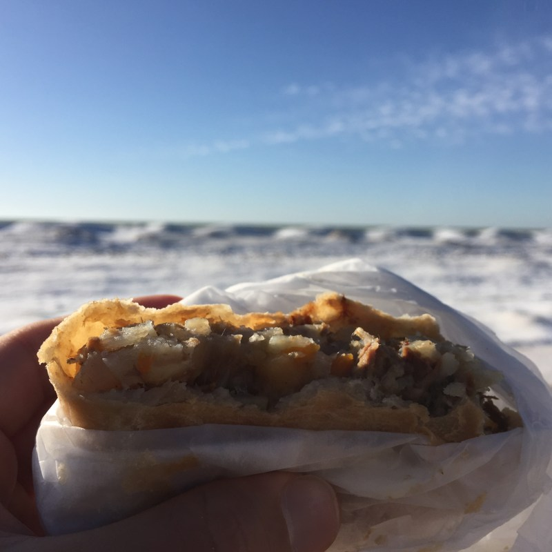 pasty, pasty review, pasties, pasty guy, st ignace, taste of the upper peninsula, zodiac party store