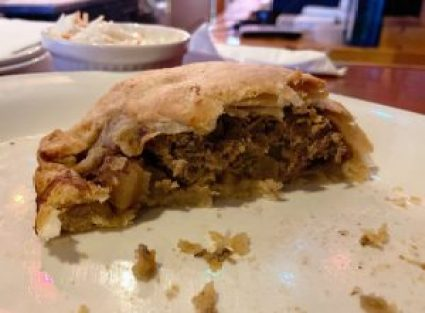 pasty, pasty review, pasties, pasty guy, driftwood, driftwood sports bar, st. ignace