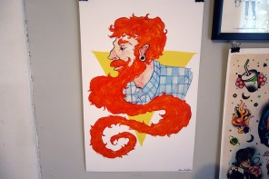 North Carolina friend and illustrator Alice Holleman did this one. It's not of me despite the red beard!